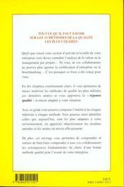 Guide Des Methodes De Qualite ;Choisir, Mettre En Oeuvre Une Demarche Qualite Qui Vous Convienne Dans L'Industrie Et Les - 4ème de couverture - Format classique
