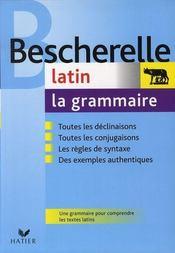 Bescherelle ; grammaire latin - Intérieur - Format classique