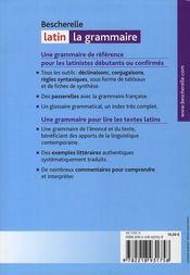Bescherelle ; grammaire latin - 4ème de couverture - Format classique