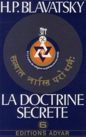 La doctrine secrète t.6 - Couverture - Format classique
