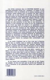 La doctrine secrète t.6 - 4ème de couverture - Format classique
