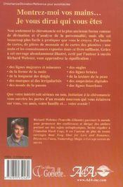 Initiation a la chiromancie - 4ème de couverture - Format classique