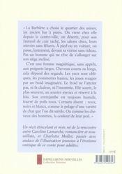 La barbière - 4ème de couverture - Format classique