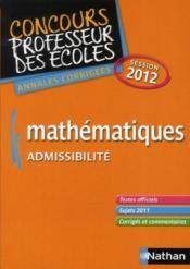 Mathématiques ; admissibilité ; CRPE session 2012 - Couverture - Format classique