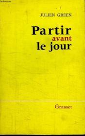 Partir Avant Le Jour. - Couverture - Format classique