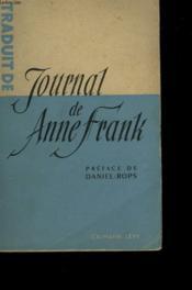 Journal De Anne Frank. - Couverture - Format classique