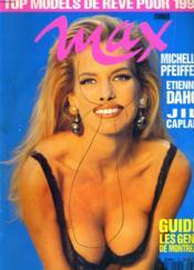 Max N°33 - Michelle Pfeiffer - Etienne Daho - Jil Caplan - Guide Les Gens De Montreal - Top Models De Reve Pour 1992 - Couverture - Format classique