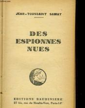 Des Espions Nues - Couverture - Format classique