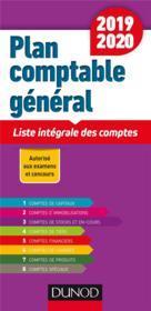Plan comptable général ; liste intégrale des comptes (édition 2019/2020) - Couverture - Format classique