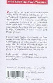 Dersou Ouzala - 4ème de couverture - Format classique