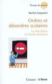 Ordres et desordres scolaires - Intérieur - Format classique