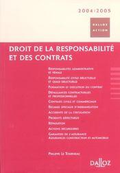 Droit De La Responsabilite Et Des Contrats 2004-2005 - Intérieur - Format classique