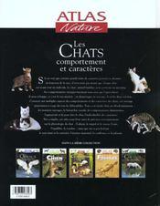 Atlas nature ; les chats - 4ème de couverture - Format classique