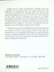 Anglais Pratique De La Version Journalistique - 4ème de couverture - Format classique