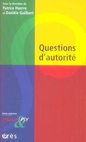 Enfances Et Psy ; Questions D'Autorité - Intérieur - Format classique