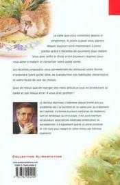 Recettes De Gourmets Pour Maigrir ; Seul Ou Avec L'Aide De Votre Medecin - 4ème de couverture - Format classique