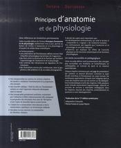Principes d'anatomie et de physiologie (4e édition) - 4ème de couverture - Format classique