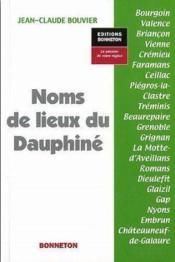 Noms de lieux du Dauphine - Couverture - Format classique