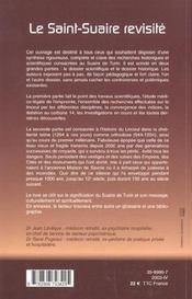 Le saint-suaire ; des certitudes scientifiques - 4ème de couverture - Format classique