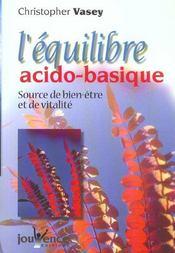 Equilibre acido - basique (l') nouvelle edition - Intérieur - Format classique