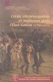 Civils, citoyens-soldats et militaires dans l'état-nation, 1789-1815 - Intérieur - Format classique