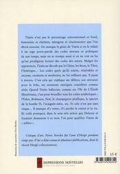 Tintin schizo - 4ème de couverture - Format classique