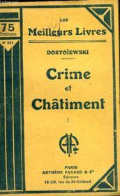 Crime Et Chatiment - Tome 1 - Couverture - Format classique