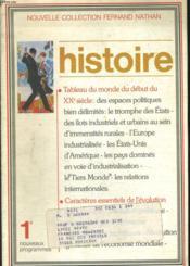 Francois Histoire 1ere - Couverture - Format classique