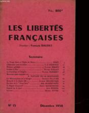 Les Libertes Francaises - N°15 - Couverture - Format classique