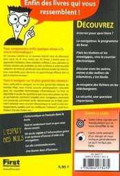 Internet Pour Les Nuls ; 2e Edition - 4ème de couverture - Format classique