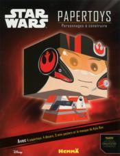 PAPERTOYS ; Disney Star Wars ; personnages à construire ; voyage vers l'épisode VII - Couverture - Format classique