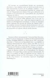 La Commission Economique Des Nations Unies Pour L'Afrique - 4ème de couverture - Format classique
