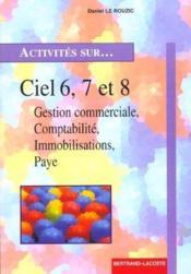 Activites Sur Ciel 6, 7 Et 8 - Couverture - Format classique