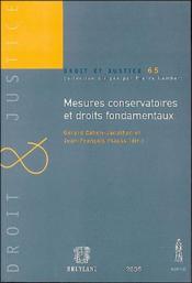 Mesures conservatoires et droits fondamentaux - Couverture - Format classique