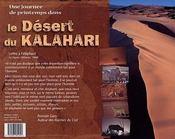 Une journee de printemps dans le desert de kalahari - 4ème de couverture - Format classique