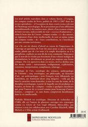 Comptes rendus ; à Benjamin, Bourdieu, Elias, Goffman, Héritier, Latour, Panofsky, Pollak, Zilsel - 4ème de couverture - Format classique