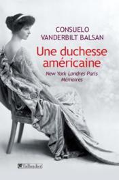 Une duchesse américaine - Couverture - Format classique