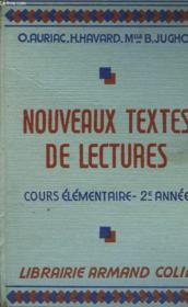 NOUVEAUX TEXTES DE LECTURES. COURS ELEMENTAIRE 2e ANNEE - Couverture - Format classique