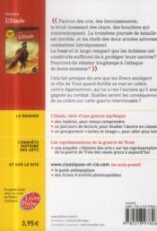 L'Iliade - 4ème de couverture - Format classique