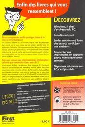 Le Pc Pour Les Nuls ; 2e Edition - 4ème de couverture - Format classique
