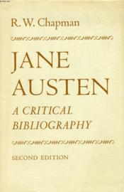 Jane Austen, A Critical Bibliography - Couverture - Format classique