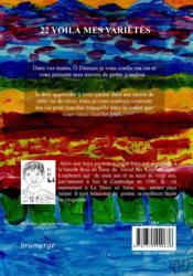 22 voilà mes variétés - 4ème de couverture - Format classique