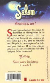 Attention Au Sort T.4 ; Salem - 4ème de couverture - Format classique