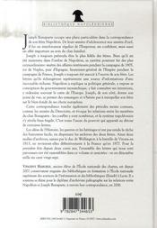 Napoleon et joseph - correspondance integ - 4ème de couverture - Format classique
