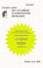 La fondation xavier bernard ; comptes rendus de l'aaf t.83 - Couverture - Format classique