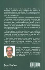 Dictionnaire moderne des reves - 4ème de couverture - Format classique