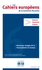 Nouveaux visages de la francophonie en Europe - Couverture - Format classique