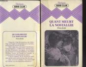 Quant Meurt La Nostalgie - Couverture - Format classique