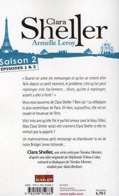 Clara Sheller saison 2 ; épisodes 1 et 2 - 4ème de couverture - Format classique