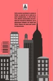 La trilogie new-yorkaise - 4ème de couverture - Format classique